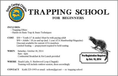 SCCATA Trapping School
