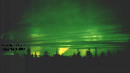 Northern Lights through the clouds - click here