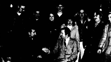 Front: Norm Phillips, Don Young. Back row: Ken Fanning, Ken Dunshie, Candy Monzingo, Pete Buist, Elaine Long, Ron Long, LeRoy Shank, and Gary Thompson. Click to enlarge.